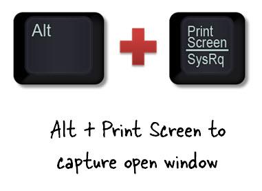 Fotografare il Desktop