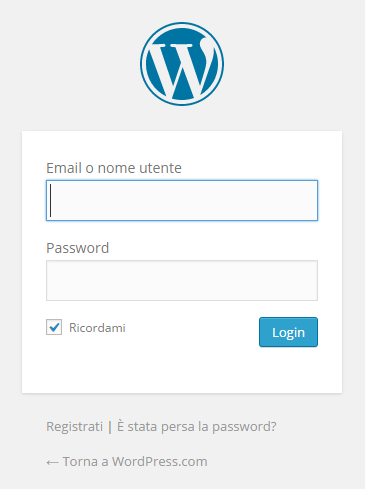 accedere wp login