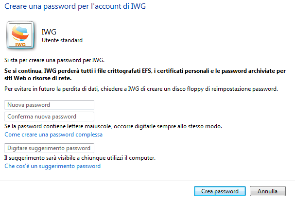 crea password